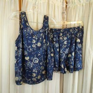 Victorias Secret 100% Silk PJ Set